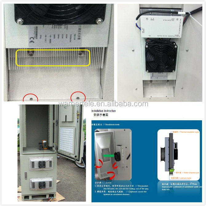 WTEL- outdoor telecom 200W 300W 48VDC TEC peltier semiconductor air conditioner for equipment cabinet