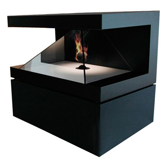 270 degree showcase holographic 3d pyramid hologram display
