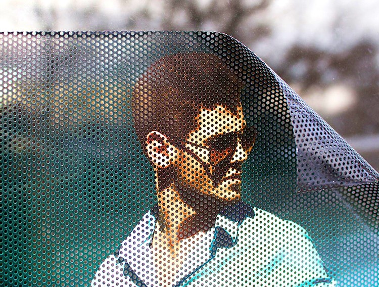 Cheap perforated one way vision film / 1 way vision vinyl window glass film