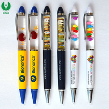 Advertising Plastic Liquid Floating Pen, Floater Ballpen, Liquid Ballpoint Pen