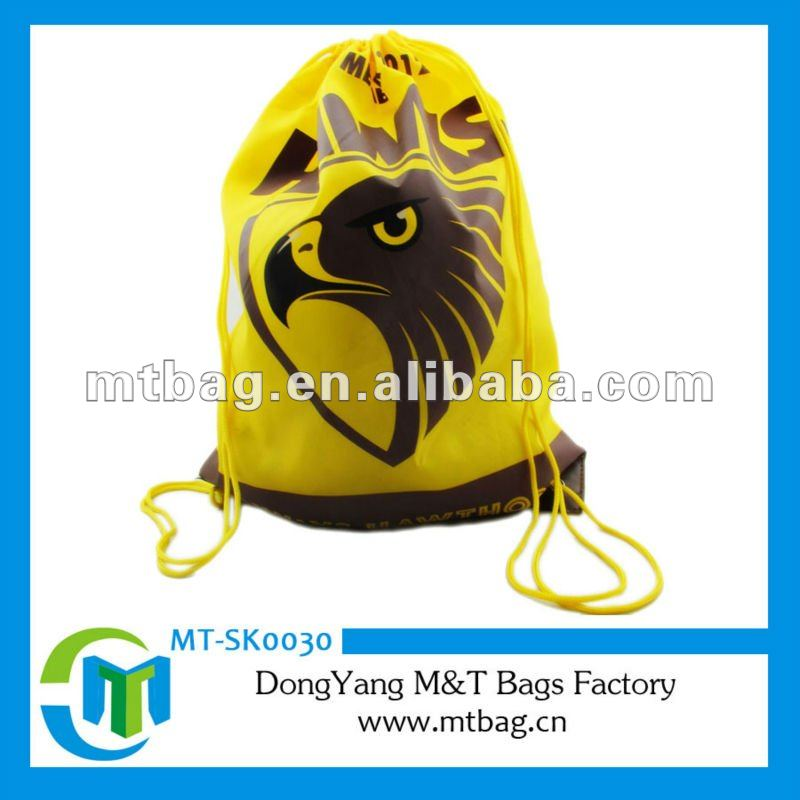 Yellow Hawk Printing PVC Cheap Drawstring Bag