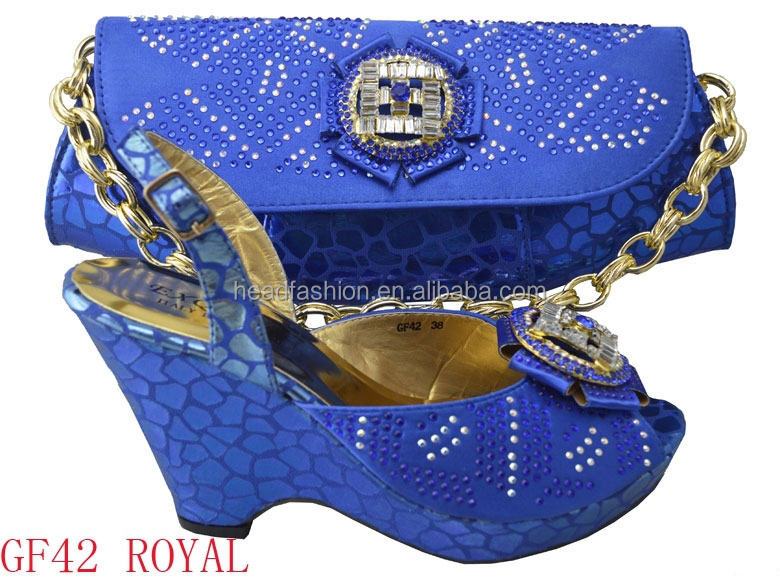 2015 GF42 latest italian shoes and bags to match women for wedding in wholesale price