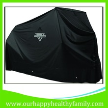 Black Waterproof Motorcycle Cover with screen printed logo, UV Protection