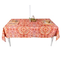 Patio dining table cloth 60 inch waterproof outdoor polyester table cloth