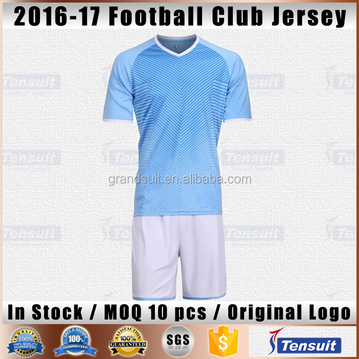 blue and white soccer uniform cheap full football jersey sets thai quality sports jersey youth national soccer kits plain design