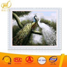 2017 New Design Peacock Couple Artistic Wholesale Diy Oil Painting Paint Art On Canvas By Numbers for Home Decoration a254