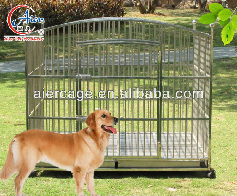 large round top steel dog cage