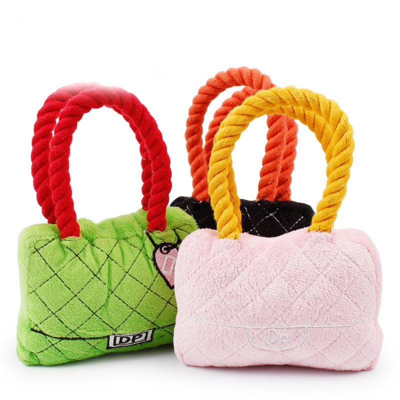 Pet dog cat toy candy color colorful color cotton rope woven slippers dog plush toys