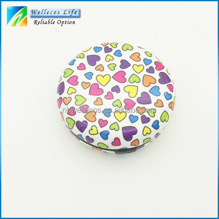 coin storage box wholesale custom round aluminum coin box with printing pattern