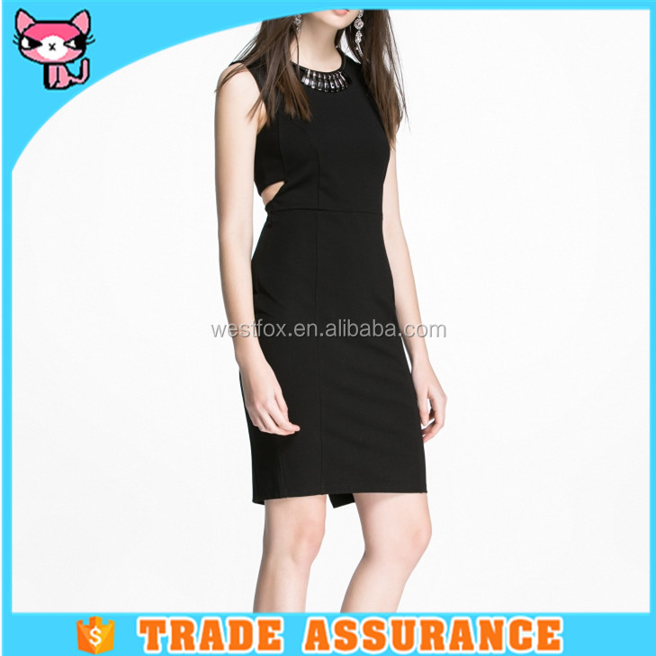 Fashionable design package hip modern knit ladies dress for office