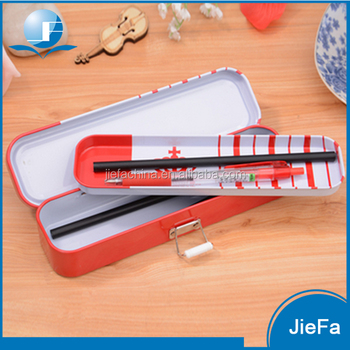 High Quality Metal double-deck Pencil Cases With 2 Layer