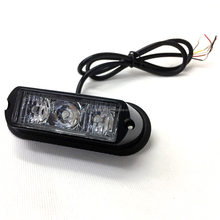 led dash deck grille strobe light head, red blue green white amber led warning strobe flash light