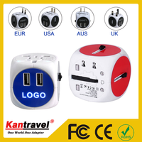 Universal Travel Adapter AU US EU to UK Adapter Converter, AC Power Plug Adaptor Connector