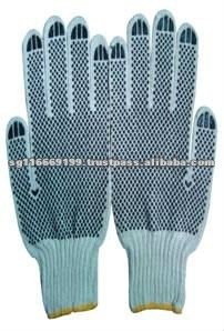 Double Side PVC Dotted Working Glove