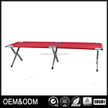 Hot selling space saving metal aluminum folding cot beds for refugee