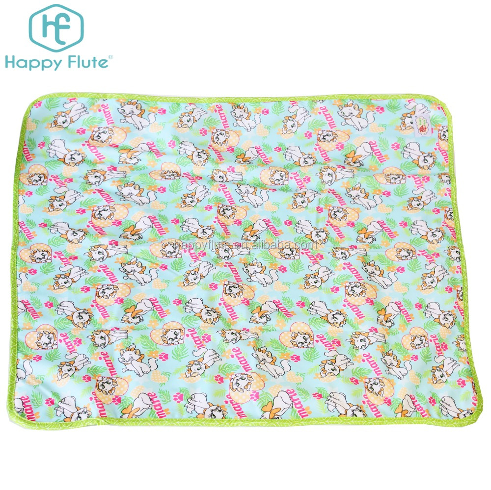 2017 new Happy Flute polyester Waterproof Baby diaper Mat Cover adult Changing Pads