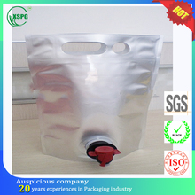 Wholesale clear drink stand up spout pouch for wine
