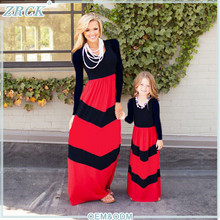 Hot cake design matching outfits mom and childrens+long maxi dress pakistan fashion