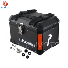 In Stock ! Pazoma High Quality Black Motorcycle Aluminum Rear Luggage Box For Most Motorcycles