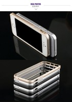 New Design metal frame Bumper Cover aluminium case for iPhone 5 5S