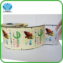 Low price cheap waterproof transparent labels stickers printing colorful manufacturer