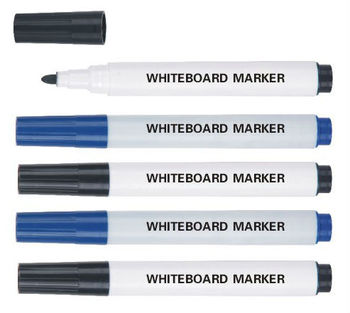 Dry wipe off whiteboard marker pens with eraser