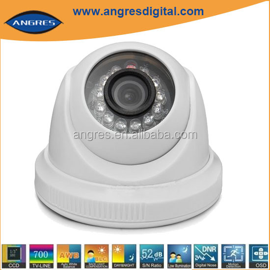 Factory wholesale !IR dome cctv camera cmos 520tvl 600tvl 700tvl