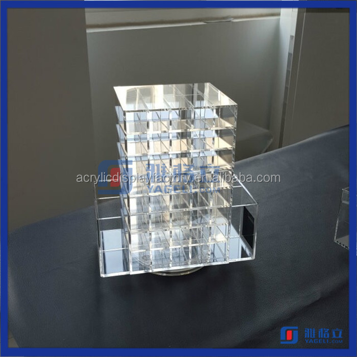 High Quality Rotating Acrylic Lipstick Display Manufacturers Acrylic Lipstick Holder Lip Gloss Holder
