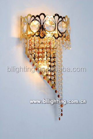 Crown Shaped Wall Sconce K9 crystals flower wall decorative lighting