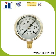 "1/8"" NPT Thread SS Case Manometer PSI"