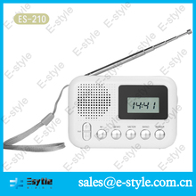 Cheap Pocket size am fm sw DSP radio with clock, manual tuning and LCD screen