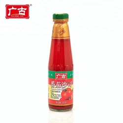 Chinese Foodstuff Wholesale Ketchup 250g Glass Bottles Tomato Sauces Tomato Paste