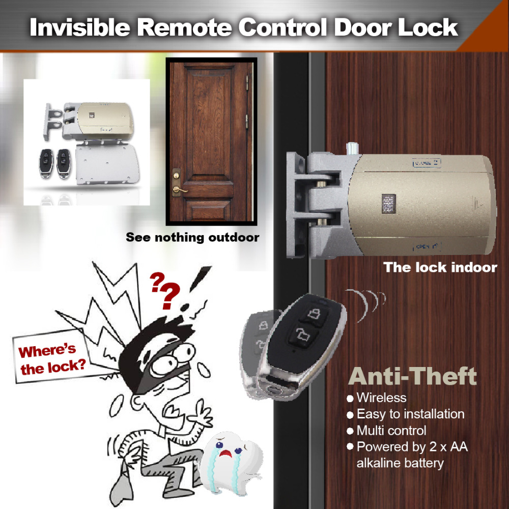 Manual switch Keyless invisible Smart anti-theft Middle distance remote control Door Lock