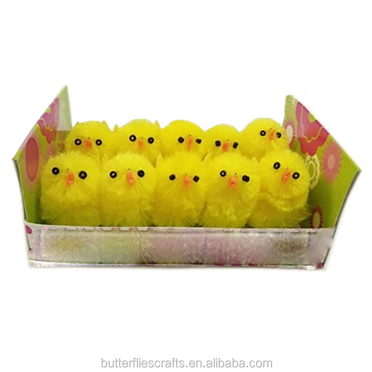 Fiber artificial chicken for Easter decoration