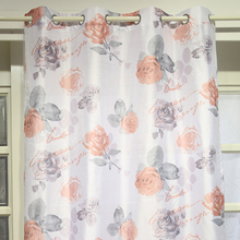 Popular hot sale luxury flower curtain fabric drapery