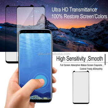 Auto-adsorption, Won't Easily Peel Off, Playing Games Randomly Revolutionary 3D Case Friendly Full Glue Tempered Glass For S8
