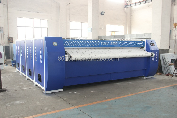 industrial cleaning machines Double roll steam ironing machine,full auto flatwork ironer 3000