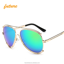 Vintage Oversized Sunglasses Metal Temples Sun glasses For Men Women Eyewear Female oculos De Sol
