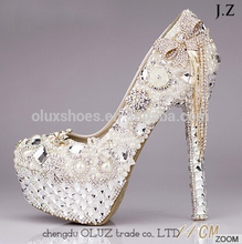 OW01 Latest Supply Reasonable Price Wholesale Platform Bridal Wedding Shoes For Girls