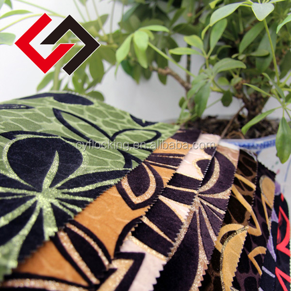 turkish home textile and fabric woven flower flocking for sofa
