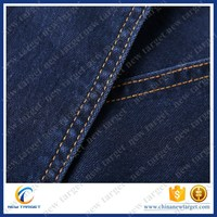 Textured clear cotton denim fabric for Only jeans Dress with high quality