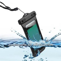 Universal Waterproof Case with Adjustable Lanyard Strap & Armband for iPhone, Smartphone and other Digital Devices up