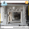 Factory wholesale indoor freestanding luxury marble fireplace mantel