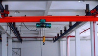 hand crane LX underslung suspension single girder bridge crane