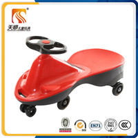 2017 NEW pure red color children swing car kids twist car for big baby toy car