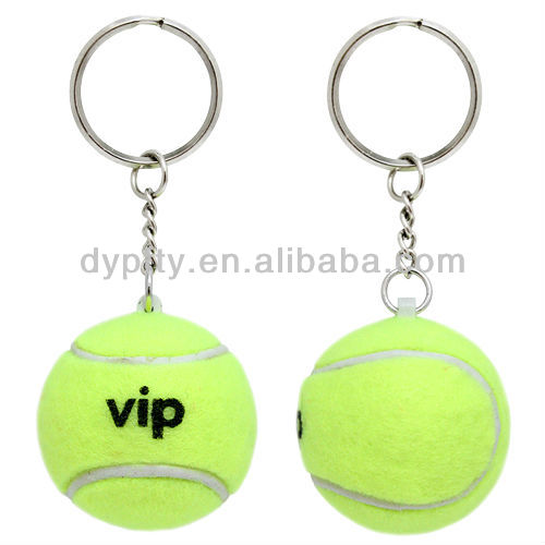 Custom printed tennis ball keychain