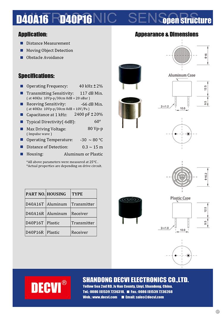New Products On China Market Water Level Sensorultrasonic Transducer For Ultrasonic Measurement Circuit Diagram Sensor Car
