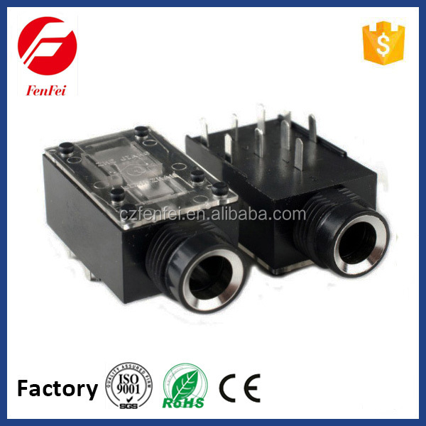 Electronic audio adapter and connector, 3.5mm stereo jack closed circuit for mobile phone