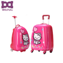 18 inch hello kitty trolley kids hard shell luggage bag