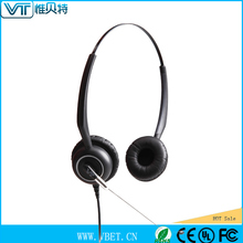 earphone headphone for call centre use Quick disconnect headsets headphones with long cord